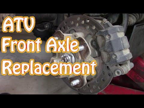 Kawasaki Brute Force ATV  Front CV Shaft Axle Replacement How to Replace Leaking Axle Seals