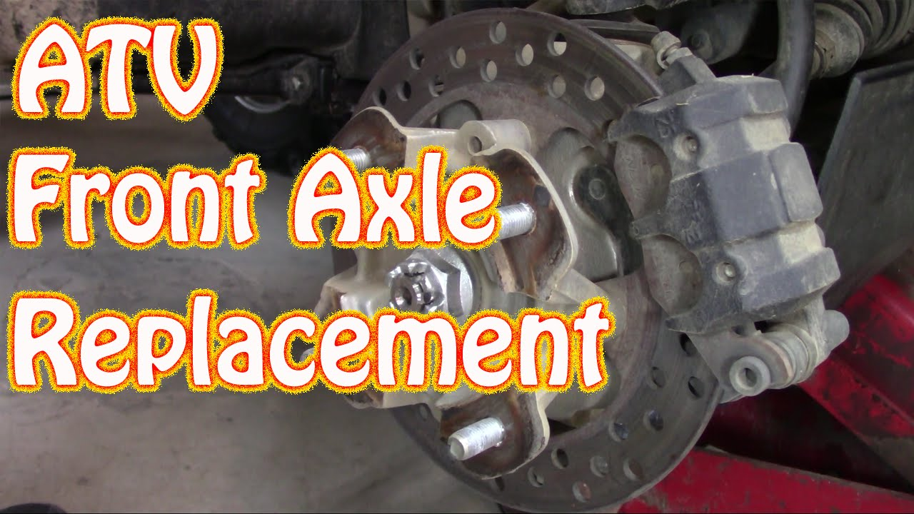 kawasaki brute force atv front cv shaft axle replacement