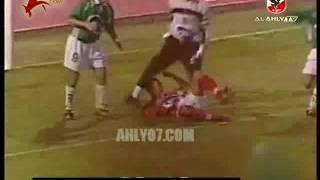 أهداف فوز الأهلي 2 مقابل 0 غزل المحلة علاء إبراهيم و محمد جودة نهائي كأس مصر 15 يونيو 2001