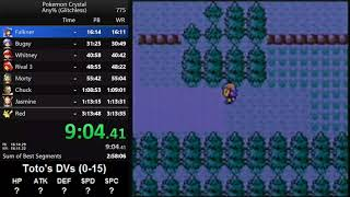 Pokemon Crystal any% glitchless speedrun in 3:13:46