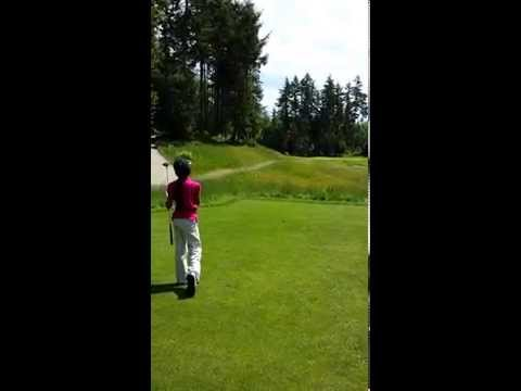 Solenne Teeing Off At White Horse Golf Course