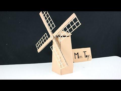 How to Make a Windmill Cardboard - DIY Windmill