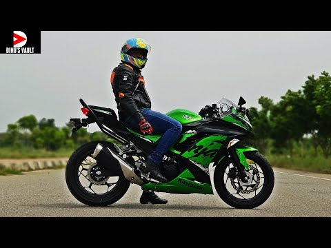 Kawasaki Ninja 300 ABS First Ride Review Pros Cons Braking Test #Bikes@Dinos