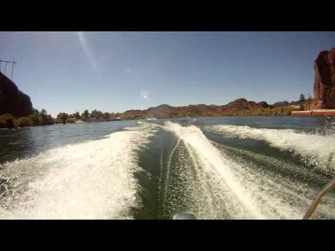 GoPro of Billy's Boat heading up the Parker Strip