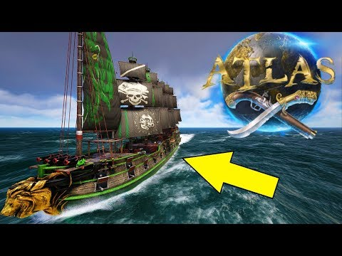 How To Build & Paint An Epic Galleon! Atlas Pirate MMO Ship Building Gameplay E6 [The Titan Company]