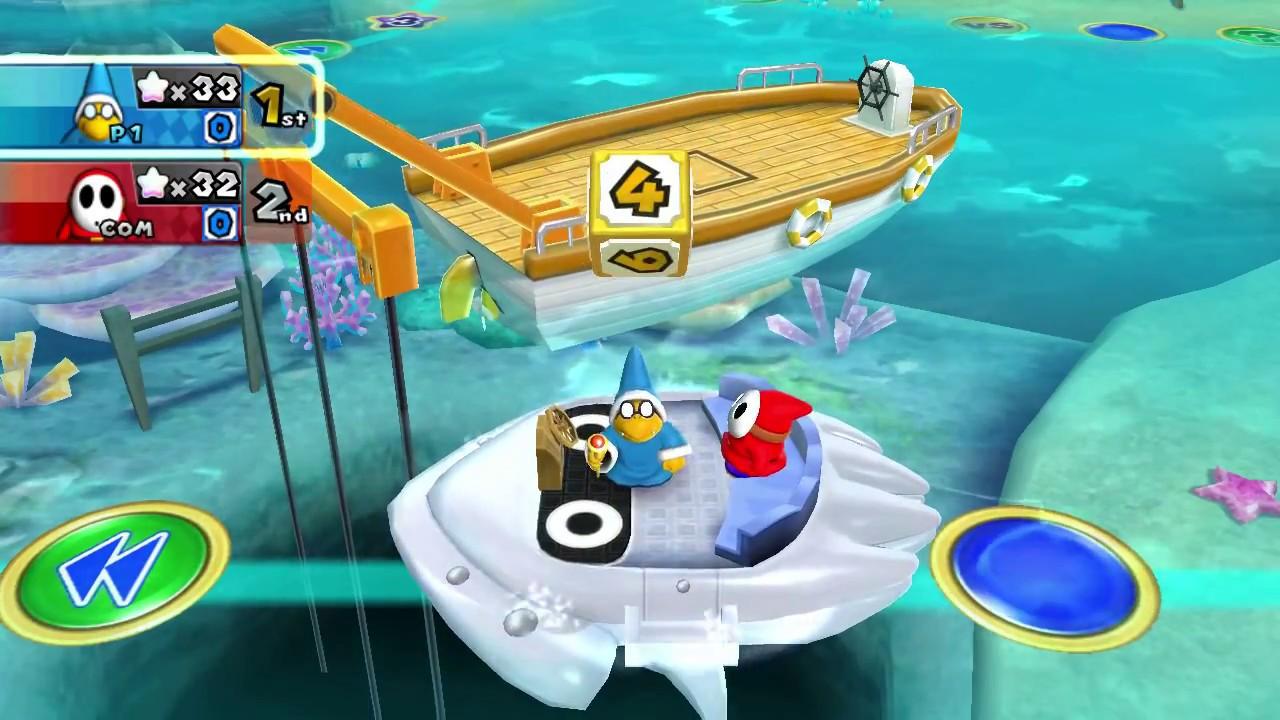 Mario Party 9 Blooper Beach Kamek Magikoopa Vs Shy Guy Youtube