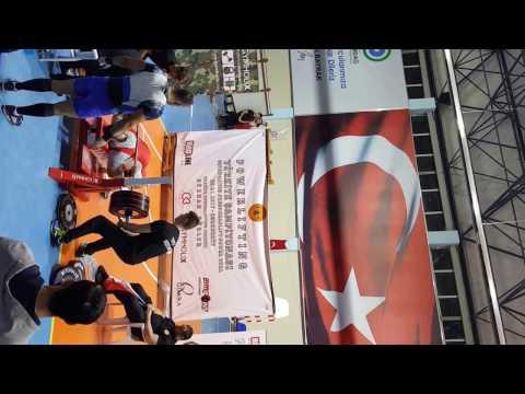 powerlifting türkiye yarışması bench press 170 kg