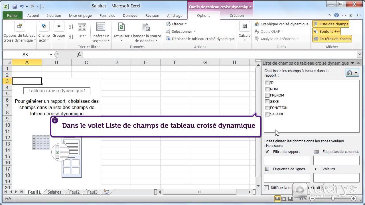 Comment Analyser Des Donnees Avec Le Tableau Croise Dynamique Avec Excel 2010 Youtube