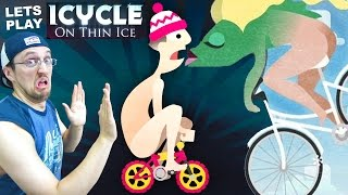Lets Play ICYCLE: ON THIN ICE! Crazy Naked Guy on a Bike! + Fish Have Butts w/ Cheeks? (Part 1)