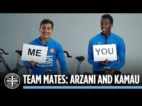 TEAM MATES: Daniel Arzani and Bruce Kamau
