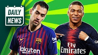 Mbappe REJECTS Real Madrid, Busquets eyes MLS move + Burnley's Anti-Football!►Onefootball Daily News
