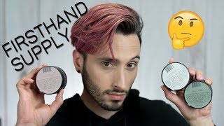 FIRSTHAND SUPPLY LINEUP   Demo & Review   All Purpose Pomade, Texturizing Clay, Clay Pomade