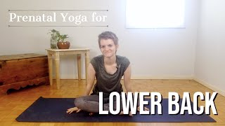 Prenatal Yoga for Lower Back