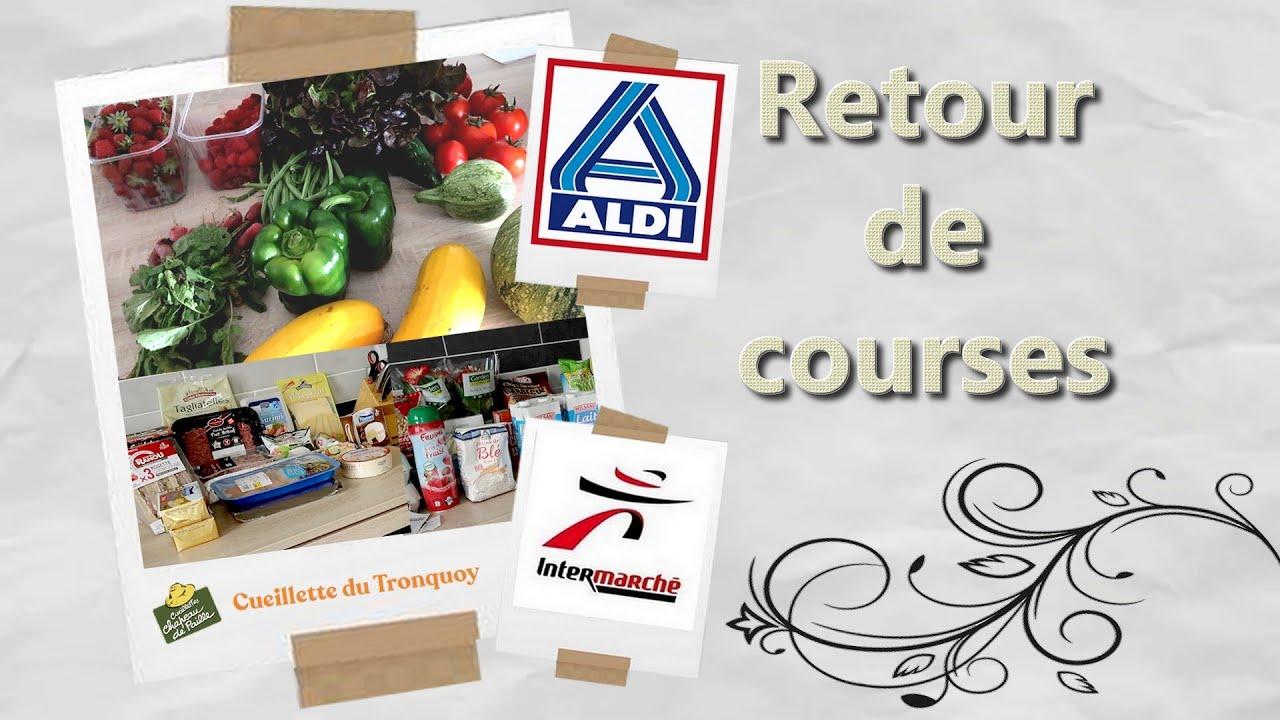 [Retour de courses] Le plein de fruits et légumes 🍓🍅🥒 - Vendredi 10 Juillet - Aldi/Intermarché