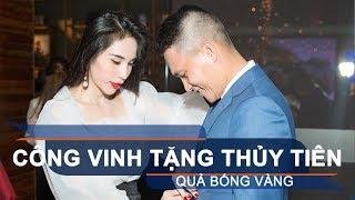 Công Vinh tặng Thủy Tiên quả bóng vàng | VTC1