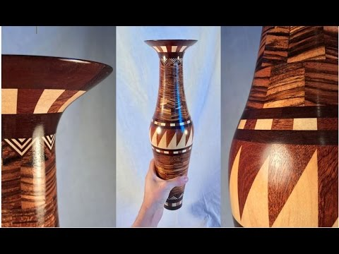 Woodturning a Segmented Vase - The African Vase