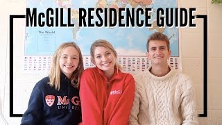 A GUIDE TO MCGILL RESIDENCES