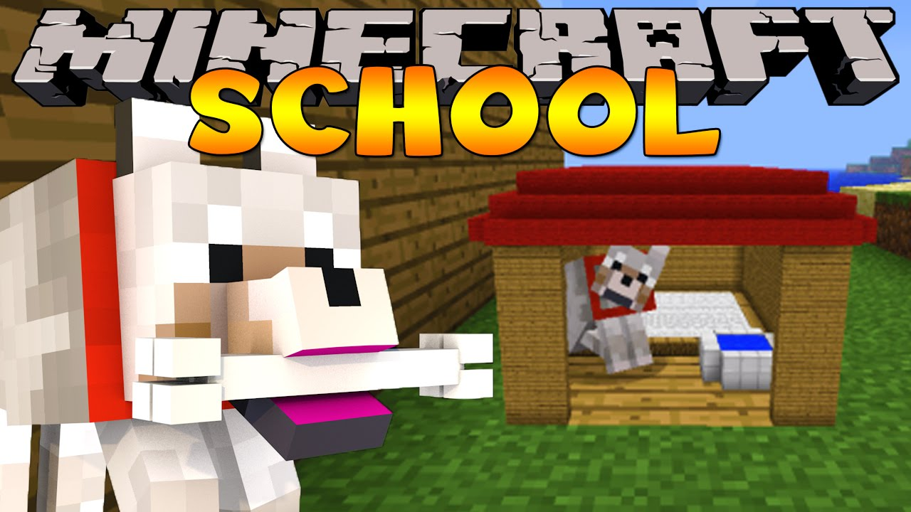 Minecraft School : PET DOGGY TRAINING! - YouTube
