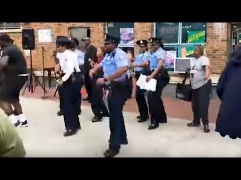 Philadelphia Police 18th District does the electric slide