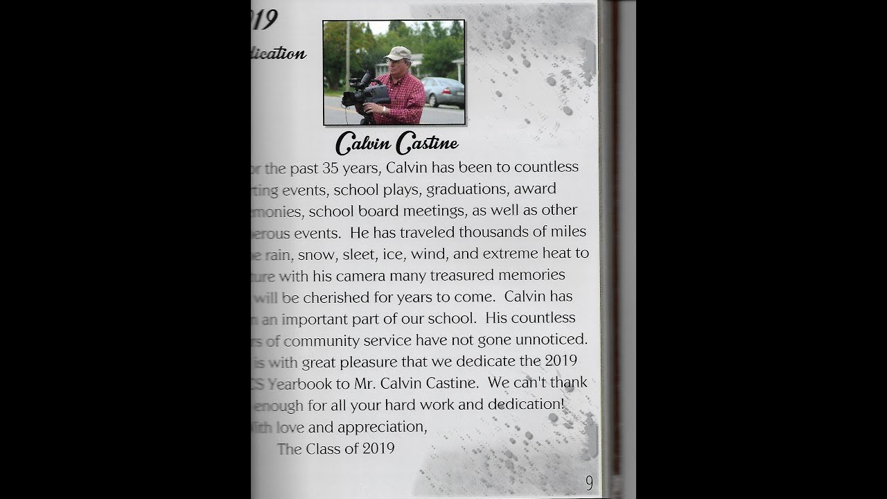 NCCS Yearbook Dedication  6-18-19