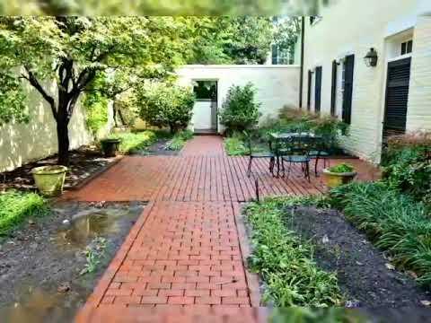patios y jardines hechos de ladrillo