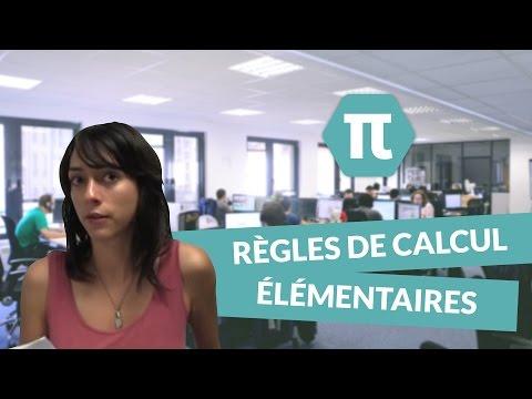 Cours de mathématiques : règles de calcul élémentaires