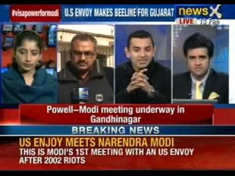 US envoy Nancy Powell meets Gujarat CM Narendra Modi