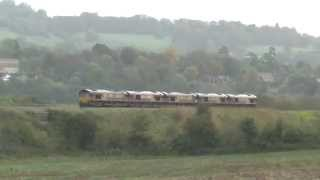 0o12 convoy x 5 locos @ Newton st Loe 18-10-14