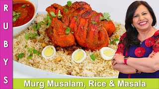 Murgh Musalam Rice, &amp Khatharnak Masala Platter Recipe in Urdu Hindi -RKK