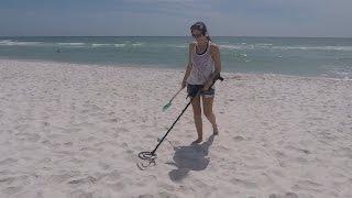 Spring Break 2017 Beach Metal Detecting w/my Bride