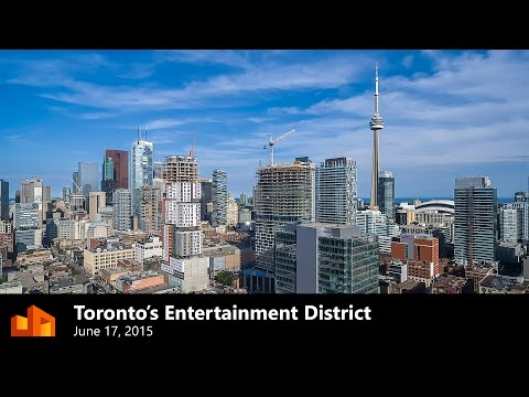 Toronto's Entertainment District from a drone