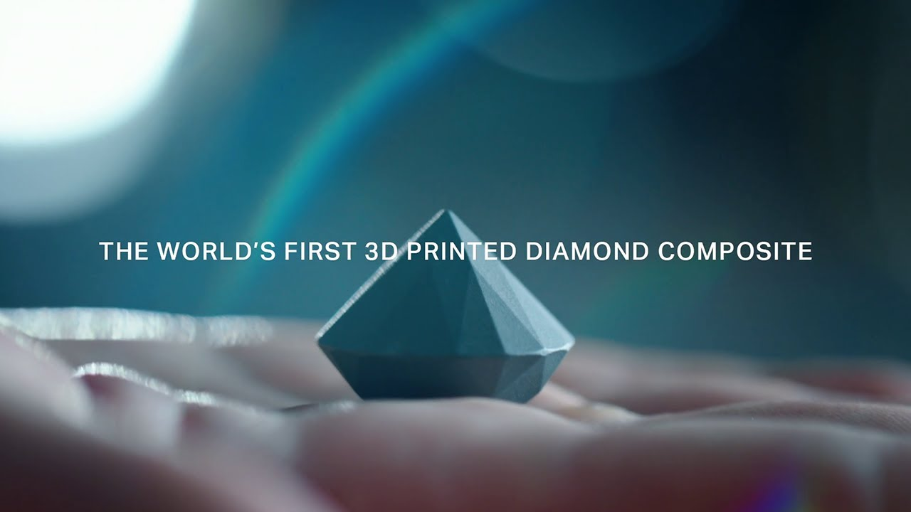 The world's first 3D printed diamond composite