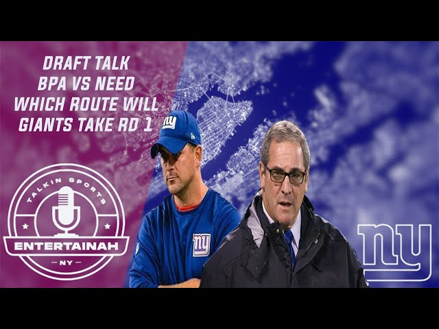 New York Giants | Draft Talk- BPA vs Need. What will Dave Gettleman & Joe Judge decide to do Round 1