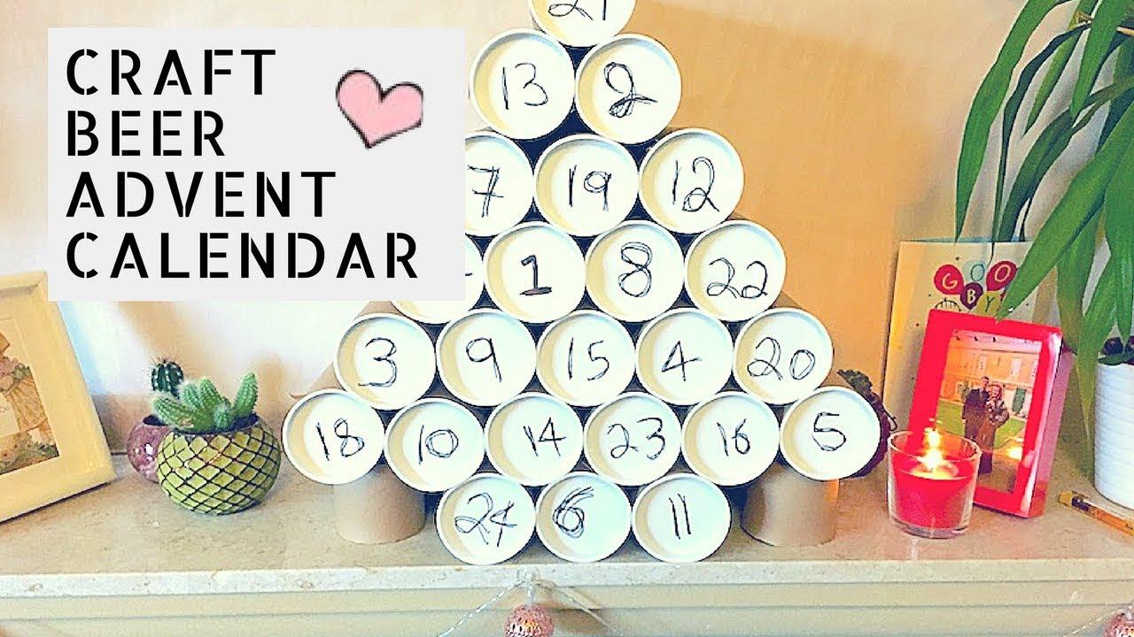 Diy Craft Beer Advent Calendar Kezimah Youtube
