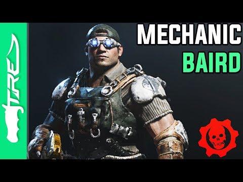 "Gears of War 4 Multiplayer Gameplay - ""Mechanic Baird"" Character Gameplay (GOW4 Mechanic Baird)"