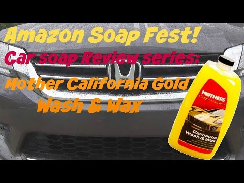 Amazon Soap Fest Review of Mothers California Gold Wash and Wax Car Wash