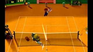 Mario Power Tennis (Nintendo GameCube) Playthrough - Part 6 {Flower Cup - Singles}