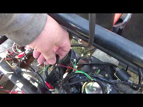 Sunl Alias Off Road Go Cart, wiring the key switch, starter, engine run and stop circuits,