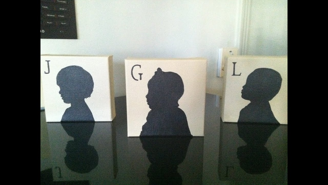 How To Make A Silhouette Painting Of Your Kid So Easy Youtube