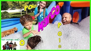Marco Polo In Bounce House Foam Pit / That YouTub3 Family