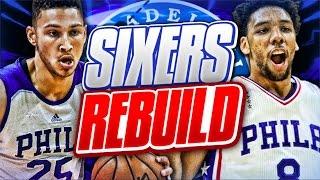 Rebuilding the philadelphia 76ers! nba 2k17 my league