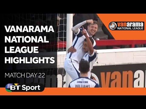 Vanarama National League Highlights Show: Matchday 22