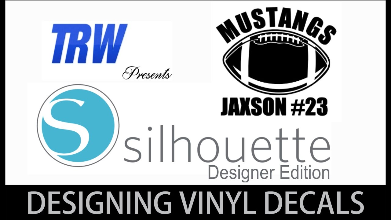 How To Design A Custom Football Vinyl Car Decal With Silhouette - How to make vinyl decals with silhouette cameo