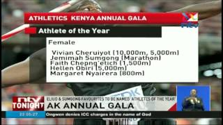 Eliud and Sumgong favourites to win at the AK gala awards