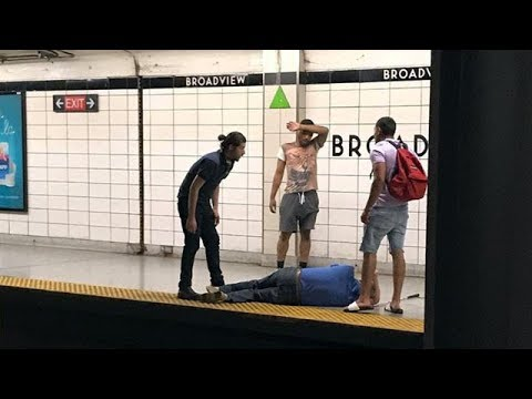Blind man rescued after falling onto Toronto subway tracks