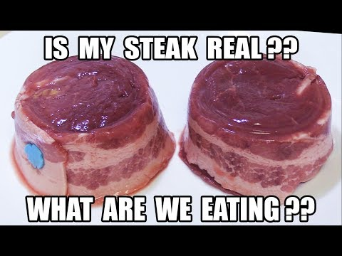 Is My Steak Real Meat or Is It Meat Glued? - WHAT ARE WE EATING?? - The Wolfe Pit