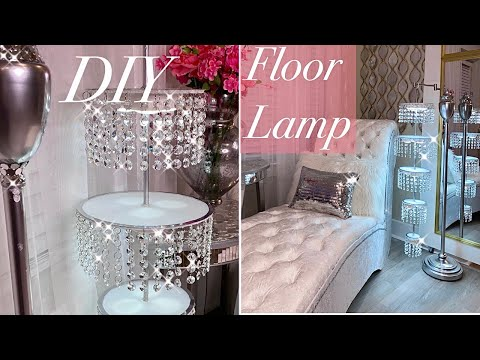 Diy Crystal Floor Lamp Diy Lighting Ideas Youtube