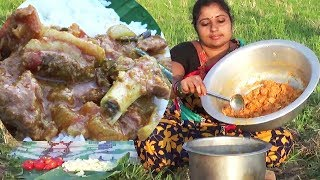 Special Mutton Curry Recipe With Cucumber | Andhra Style Cooking In My Village By Aunty | Sea Foods