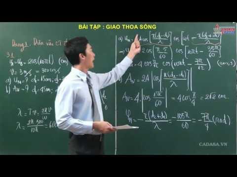 Vật lý 12 - Sóng cơ học - Bài tập giao thoa sóng - Cadasa.vn