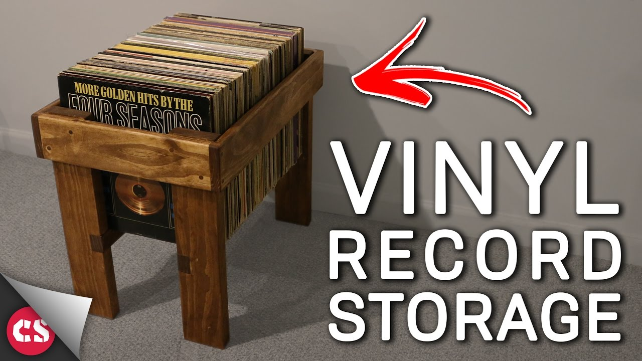 Charming Vinyl Record Storage DIY
